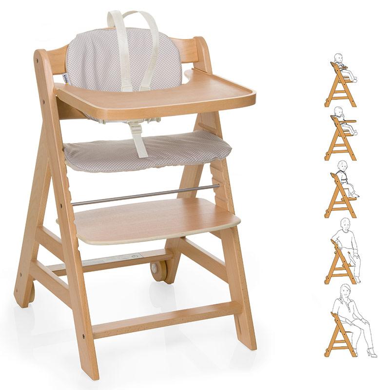 hauck baby und kinder hochstuhl beta plus natur treppenhochstuhl aus holz ebay. Black Bedroom Furniture Sets. Home Design Ideas