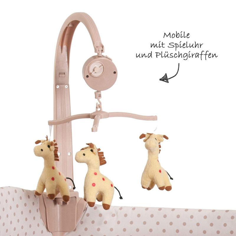 hauck baby reisebett babycenter giraffe kinderreisebett mit wickelauflage. Black Bedroom Furniture Sets. Home Design Ideas
