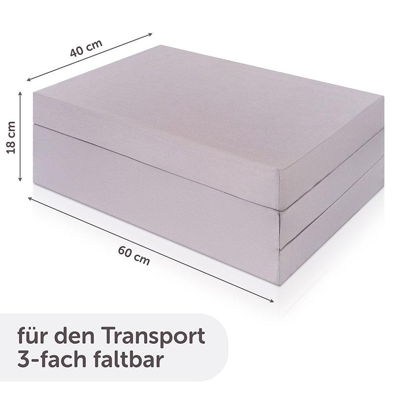 alvi reisebett matratze komfort 60 x 120 cm schadstoffgepr ft grau ebay. Black Bedroom Furniture Sets. Home Design Ideas
