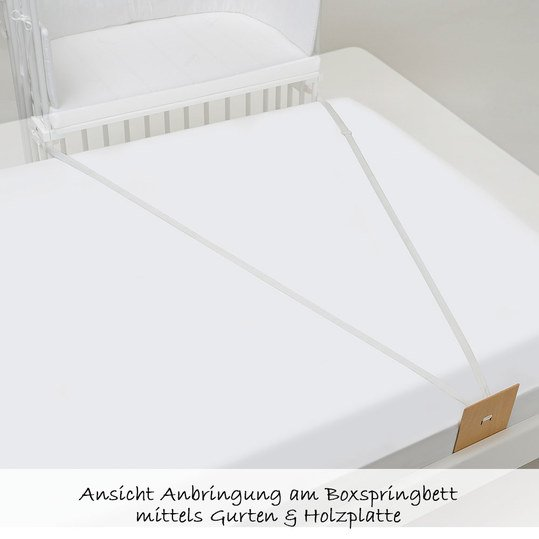 babybay beistellbett boxspring wei lackiert. Black Bedroom Furniture Sets. Home Design Ideas