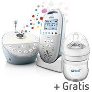 Babyphone DECT SCD580/00 + Gratis PP-Flasche Naturnah 125 ml - Silikon