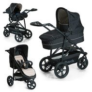 Kinderwagen-Set Rapid 3 Plus Trio Set - Caviar/Beige