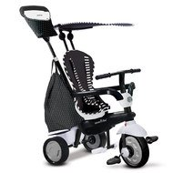 Dreirad Glow 4 in 1 mit Touch Steering - Black & White
