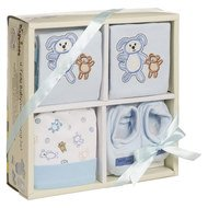 4-tlg. Babyausstattungs-Set - Bleu - Gr. 0 - 6 Monate