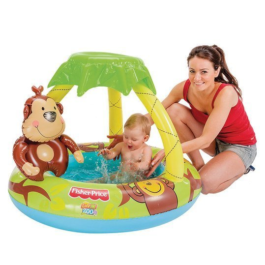 fisher price planschbecken baby pool mit ffchen palme 102 x 80 cm. Black Bedroom Furniture Sets. Home Design Ideas