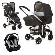 Kinderwagen-Set Miami 4 Trio Set - Caviar Silver