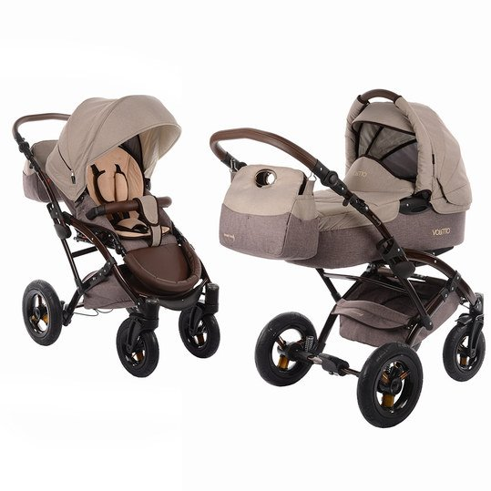 knorr baby kombi kinderwagen voletto happy colour beige braun. Black Bedroom Furniture Sets. Home Design Ideas