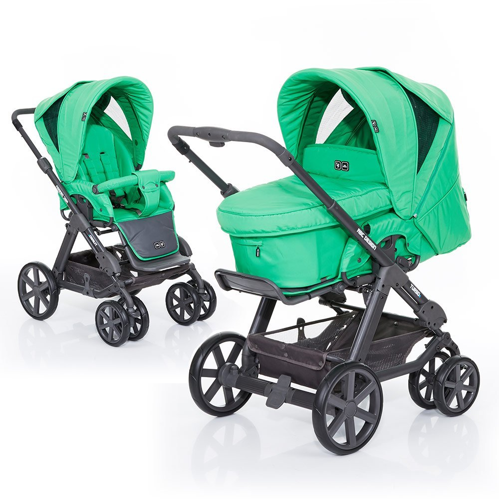 ABC Design Kombi-Kinderwagen Turbo 6 Fashion - Grass 61004608