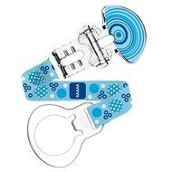 Schnullerband Fashion mit Clip - Blau