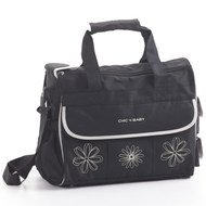 Wickeltasche Luxury - Black Beige