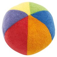 ABC Frottee-Ball mit Rassel 12 cm