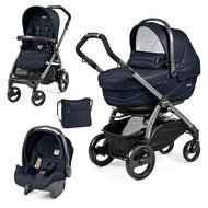 Kinderwagen-Set Book 51 XL Sportivo Modular Gestell Jet Anthrazit - Bloom Navy