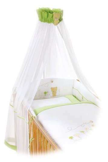 easy baby bettw sche set honeybear gr n. Black Bedroom Furniture Sets. Home Design Ideas