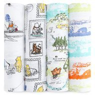 Mulltuch 4er Pack Swaddles 120 x 120 cm - Winnie The Pooh