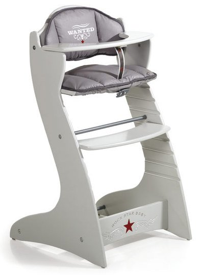 rock star baby treppen hochstuhl rock up hellgrau rock star baby. Black Bedroom Furniture Sets. Home Design Ideas
