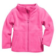 Fleece-Jacke - Uni Pink