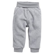 Fleece-Hose - Grau Melange