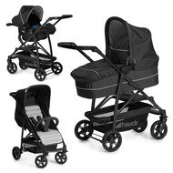 Kinderwagen-Set Rapid 4 Plus Trio Set - Caviar Silver