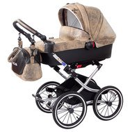Erstlings-Kinderwagen Luxus - Lederlook