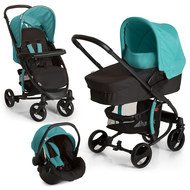 Kinderwagen-Set Miami 4S Trio Set - Caviar Petrol