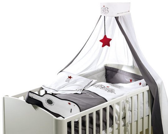 rock star baby bettw sche set rock star baby grau. Black Bedroom Furniture Sets. Home Design Ideas