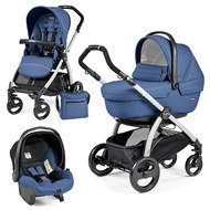 Kinderwagen-Set Book Plus XL Sportivo Modular Gestell Silber - Mod Bluette