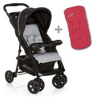 Buggy Shopper Comfortfold inkl. Sitzauflage Rot - Black Silver