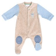 Nicki-Overall mit Flicken Patches - Beige Blau