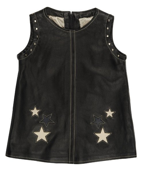 Rock Star Baby Lederkleid Rock Star Girls - Schwarz - Gr. XL