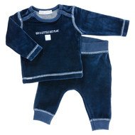 2-tlg. Set Nicki Langarmshirt + Hose - Pinguin Navy