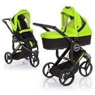 Kombi-Kinderwagen Cobra PLUS - Lime inkl. Tragewanne PLUS Lime