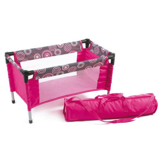 chic 2000 puppen reisebett hot pink pearls. Black Bedroom Furniture Sets. Home Design Ideas
