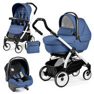 Kinderwagen-Set Book Plus 51 XL Sportivo Modular Gestell Weiß - Mod Bluette