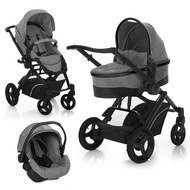 Kinderwagen-Set Maxan 4 Trio Set - Melange Grey