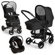 Kinderwagen-Set Miami 4S Trio Set - Caviar Silver