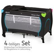 4-tlg. Reisebett-Set Sleep'n Play Center - Multicolor Black