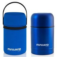 Edelstahl-Isolierbox & Neopren-Tasche Color Thermo Food 600 ml - Blue