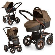 Kinderwagen-Set King Air Plus Trio Set - Melange Chocolate