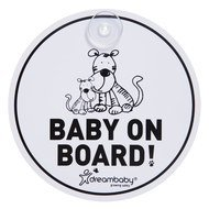 Auto-Schild Baby-on-Board - Tiger