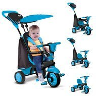Dreirad Spark 4 in 1 mit Touch Steering - Blue