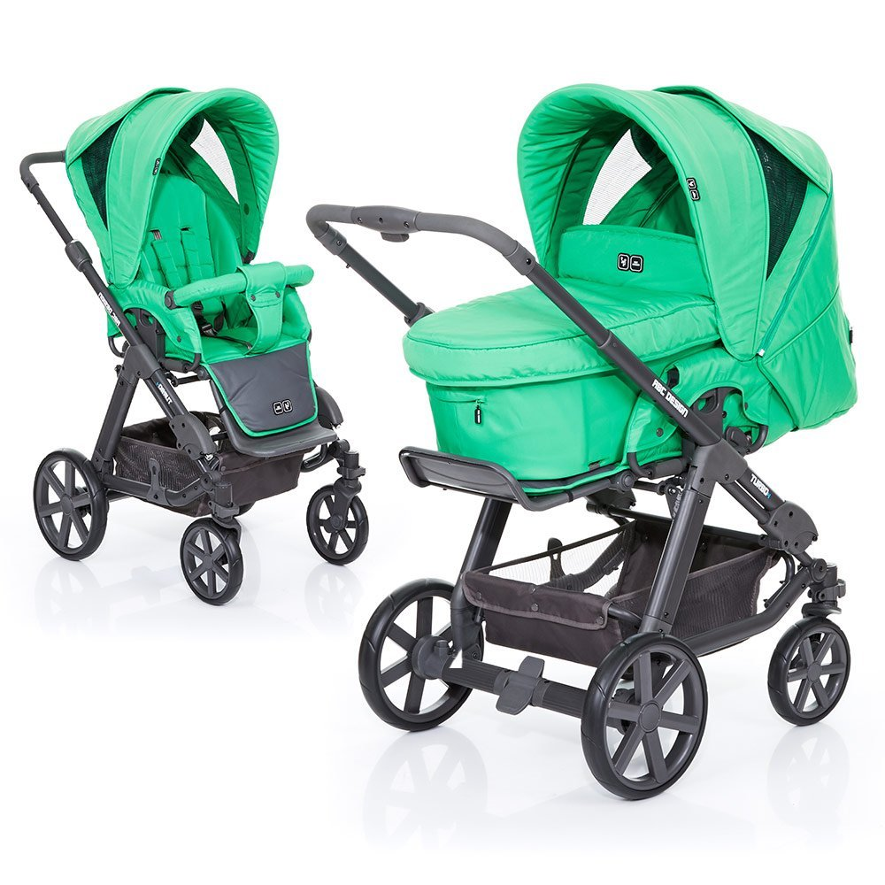 ABC Design Kombi-Kinderwagen Turbo 4 Fashion - Grass 61003608