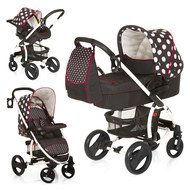 Kinderwagen-Set Malibu XL All in One - Dots Black