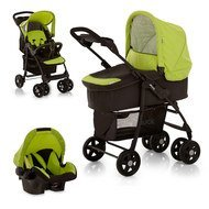Kinderwagen-Set Shopper Trio Set - Caviar Kiwi