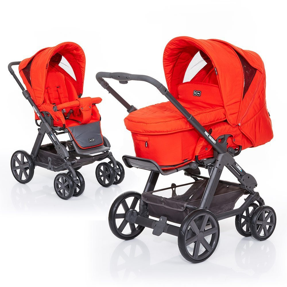 ABC Design Kombi-Kinderwagen Turbo 6 Fashion - Flame 61004609