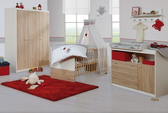 roba kinderzimmer gabriella mit breiter wickelkommode und 3 t rigem schrank. Black Bedroom Furniture Sets. Home Design Ideas