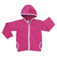 Kapuzenjacke Basic Line Girls - Pink
