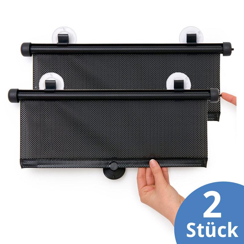 hauck 2x sonnenschutz rollo f r seitenfenster sonnenblende auto kinder baby ebay. Black Bedroom Furniture Sets. Home Design Ideas