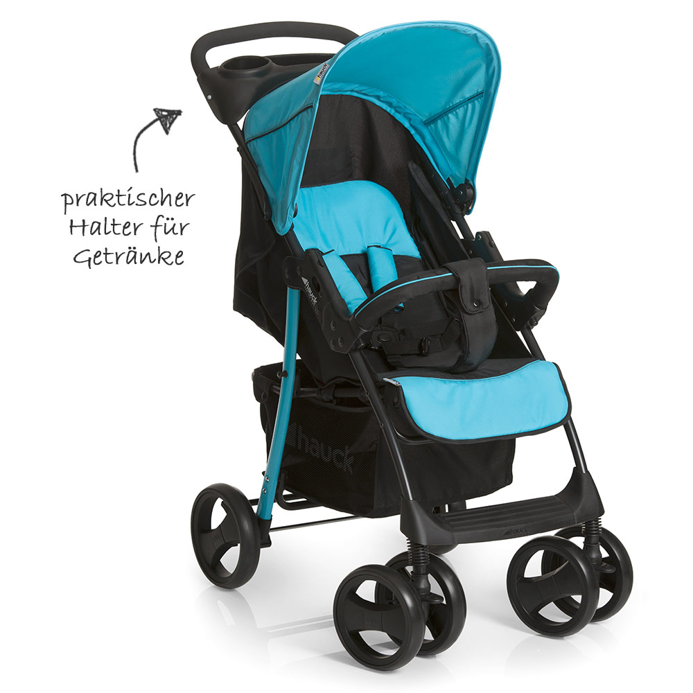 hauck kinderwagen 3in1 set shopper slx trio aqua. Black Bedroom Furniture Sets. Home Design Ideas