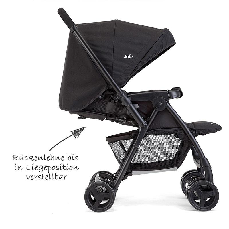 joie buggy kinderwagen mirus schwarz mit regenschutz schwenkschieber ebay. Black Bedroom Furniture Sets. Home Design Ideas