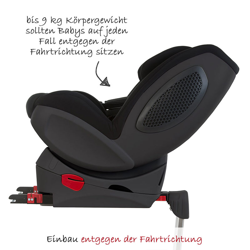 hauck kindersitz reboarder varioguard plus 0 18kg schwarz isofix basis neu ebay. Black Bedroom Furniture Sets. Home Design Ideas